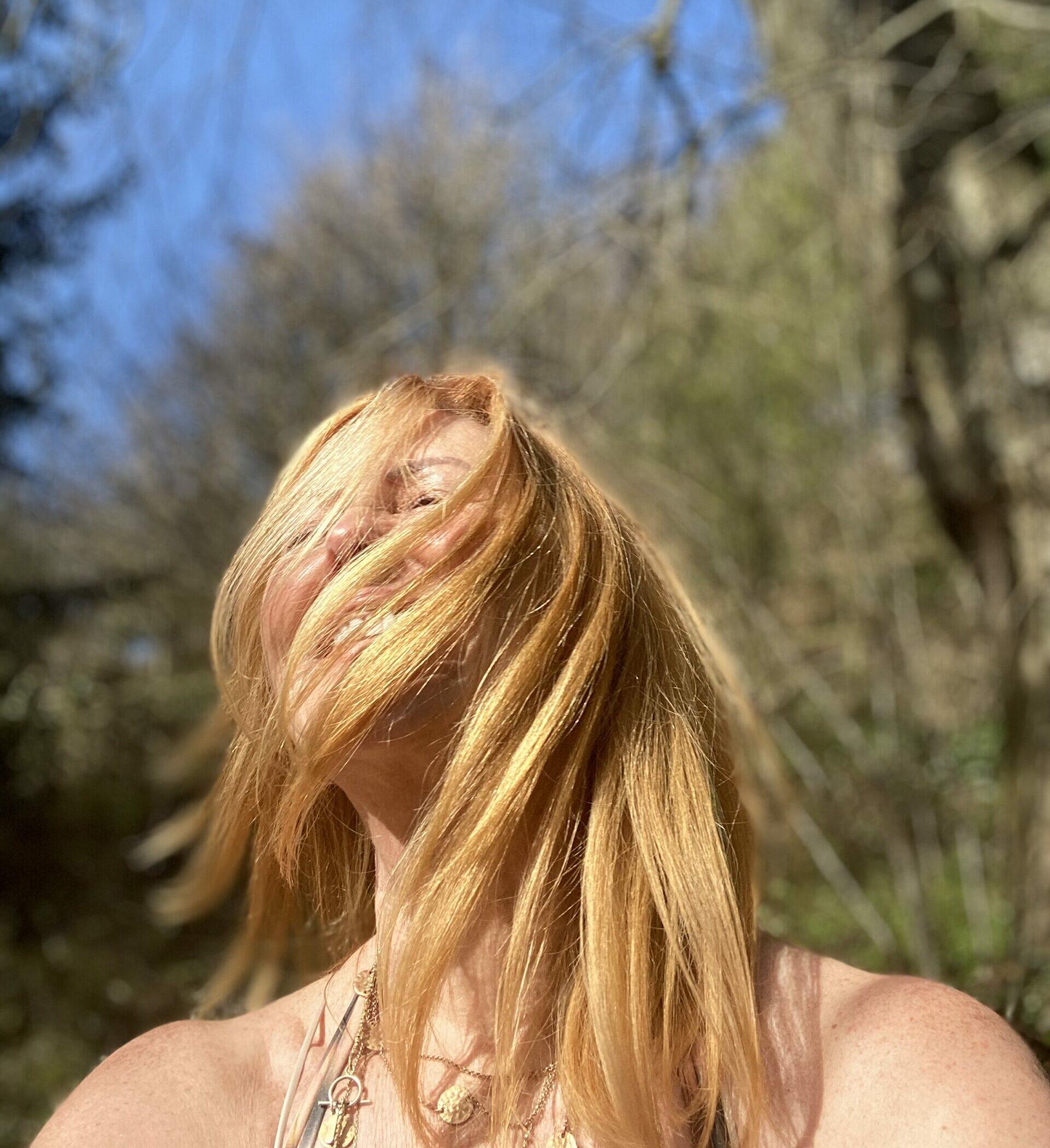 Woman, sunshine, yoga